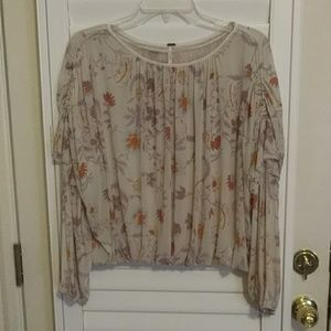 Free People Boho Style Blouse